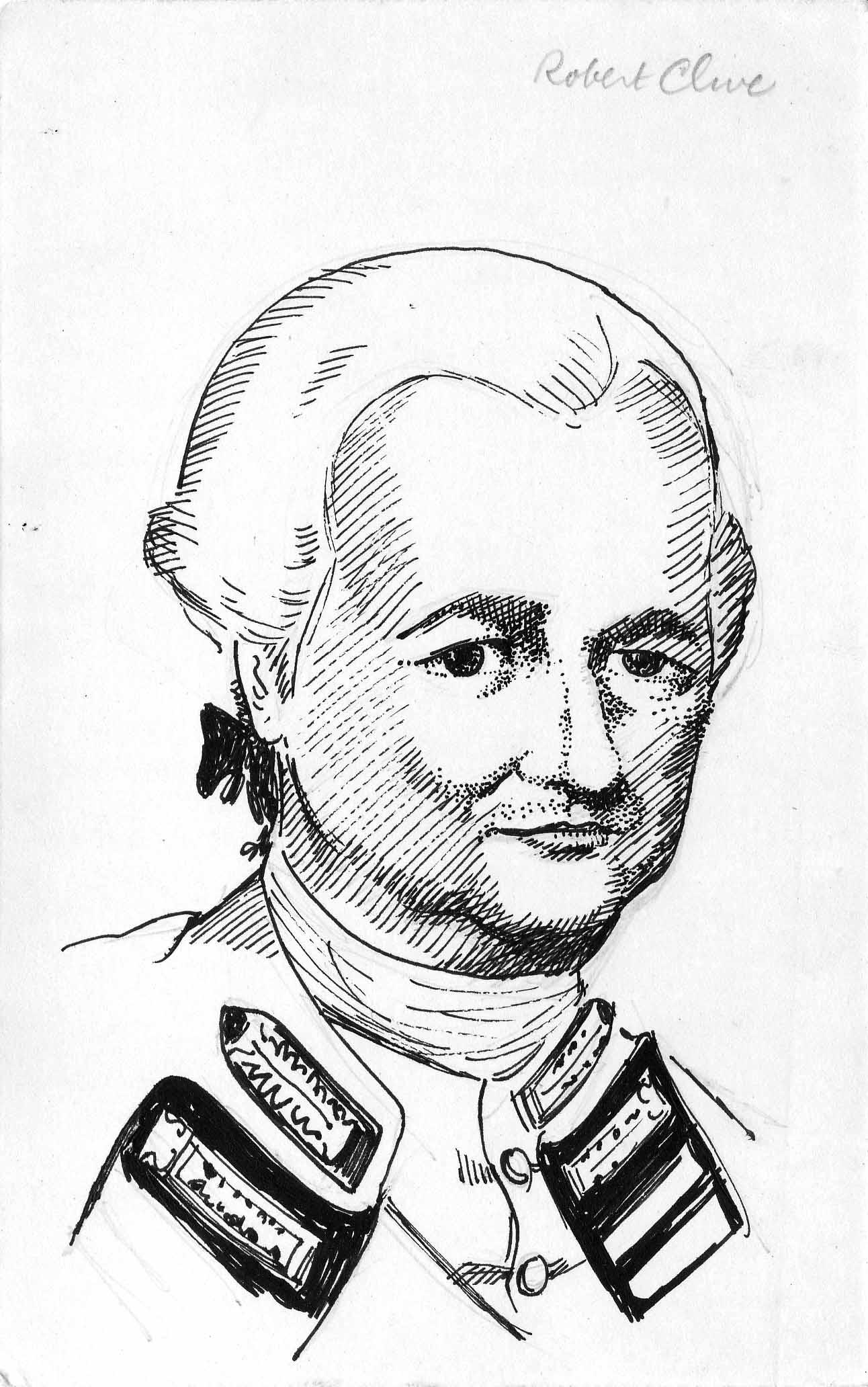 pen portrait- Robert Clive - robert-clive
