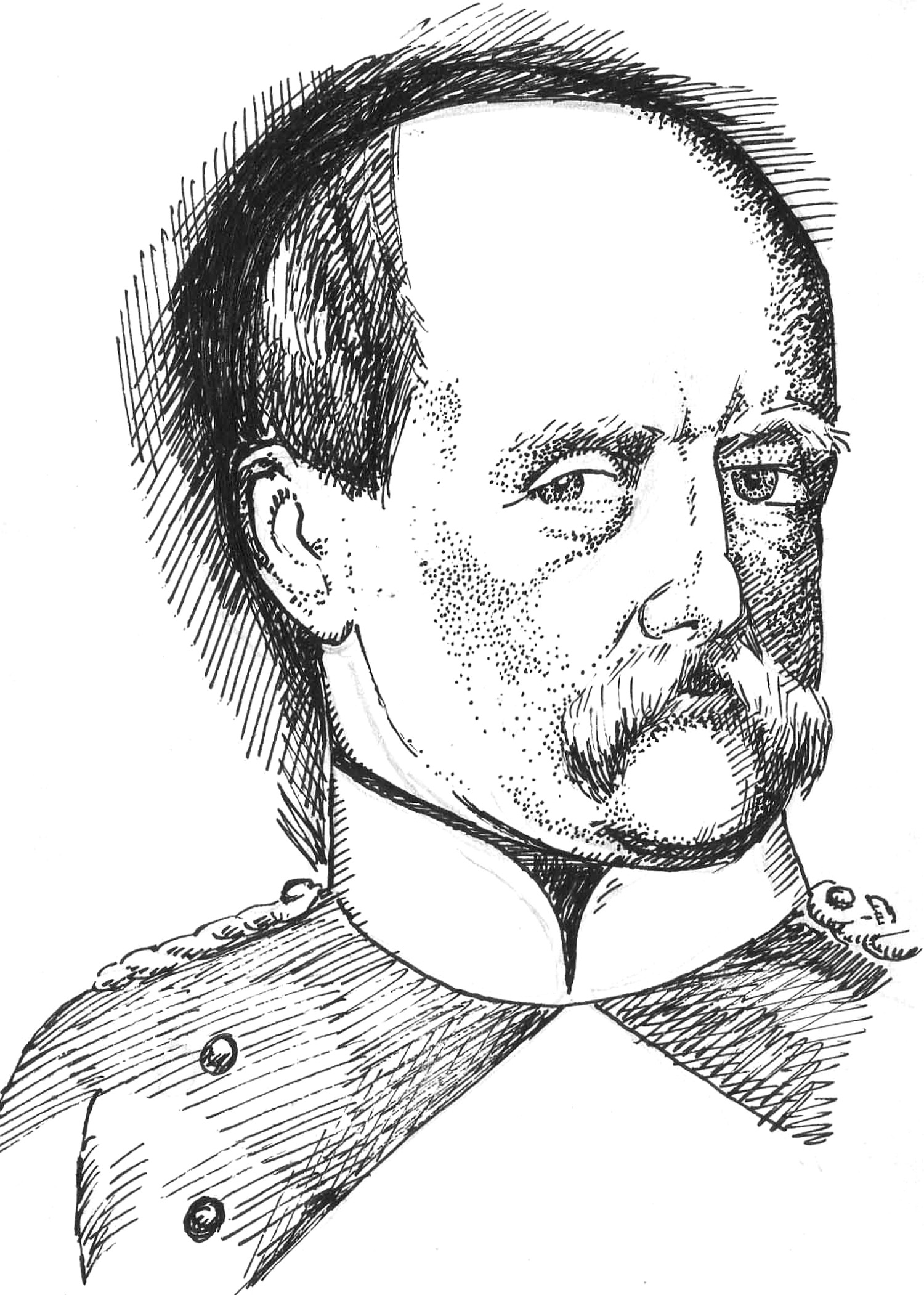 Otto Von Bismarck Drawing on March 21 1871 Bismarck