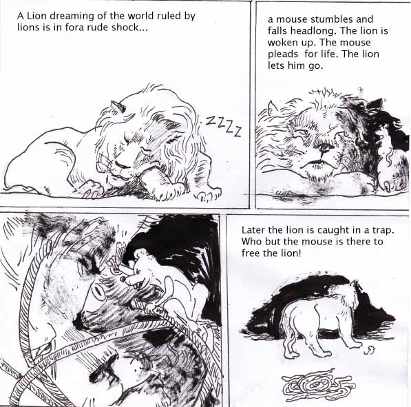 the lion and the mouse fable