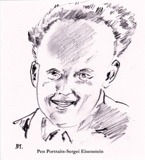Pen Portraits-Sergei Eisenstein