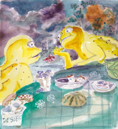Picture Book illustration-late supper