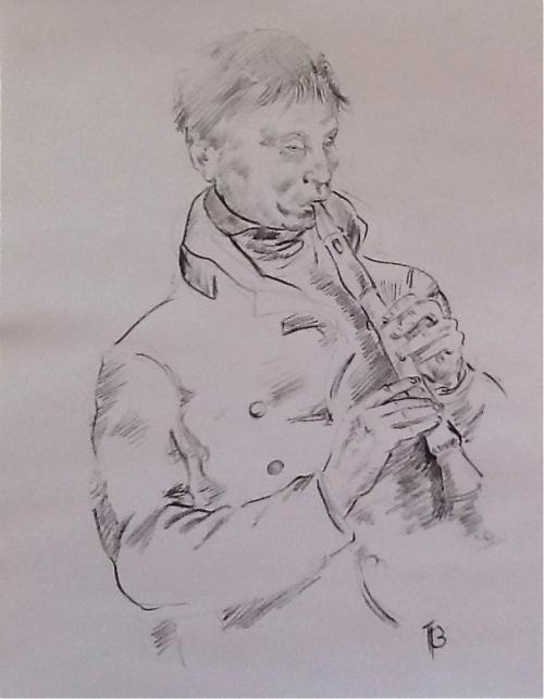 A Musician-graphite