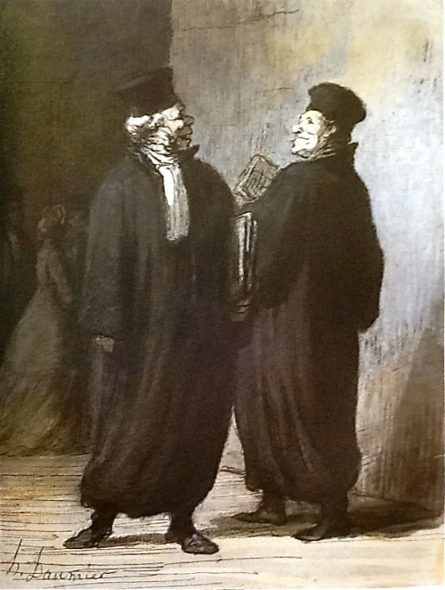 When two Lawyers Meet- H. Daumier
