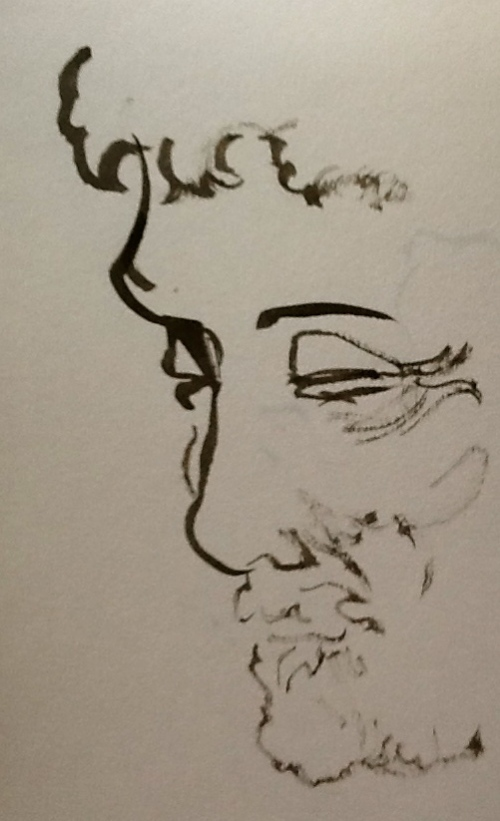 From my Sketchbook-face of a man
