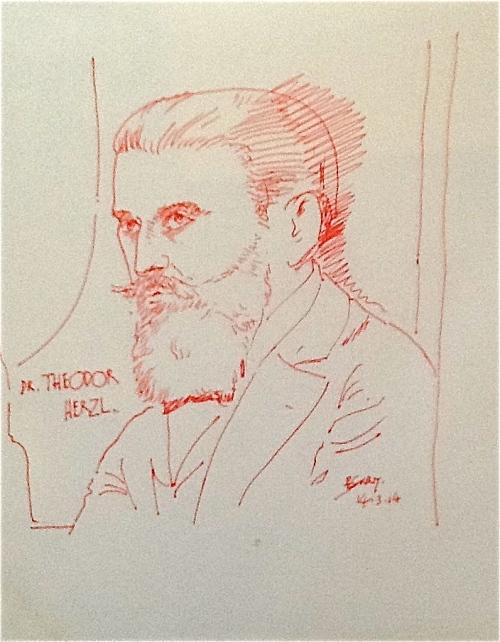 Pen Portraits- Theodor Herzl