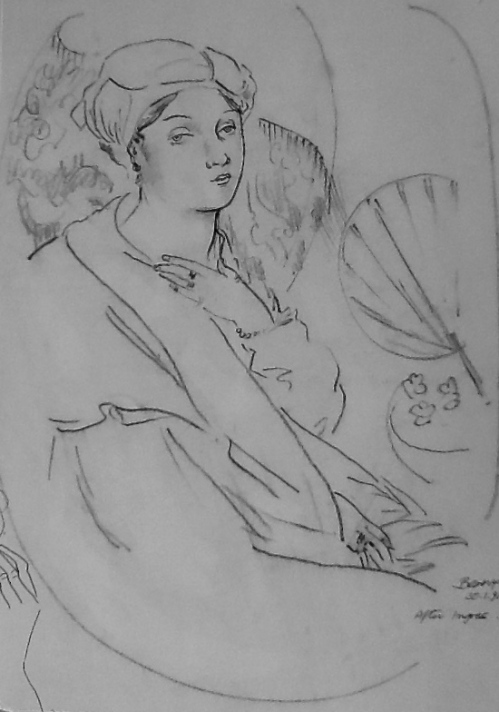 After Ingres-charcoal
