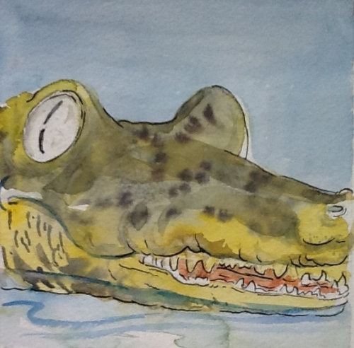 Croc! -water color