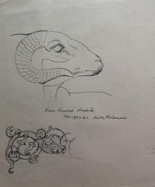 Egyptian artifact-ram's head