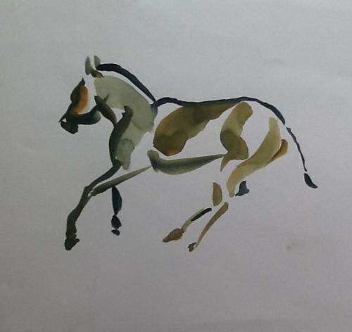 Prancing Donkey- quick sketch