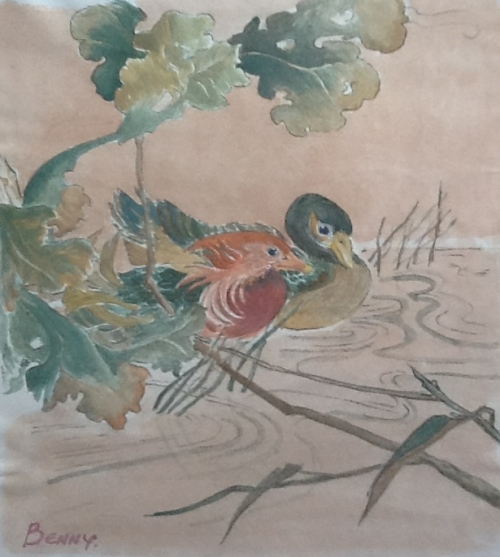From a Chinese Painting,-watercolor