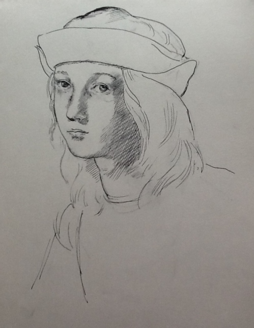 After Raphael-self portrait