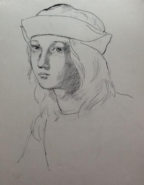 After Raphael-self portrait
