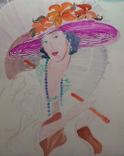 From Vogue Cover-watercolor