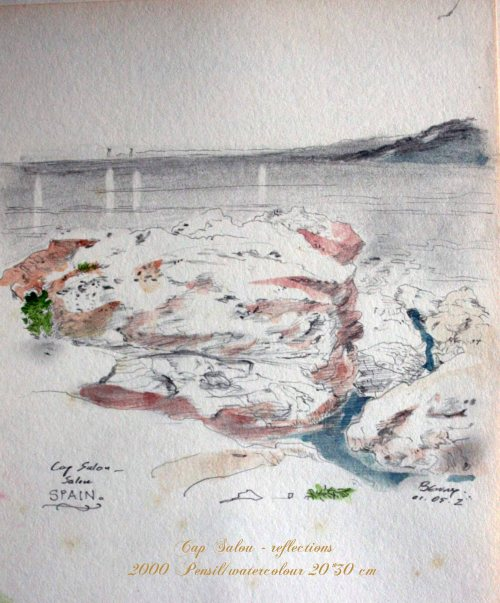 Outdoor sketching,Cape Salou,Spain