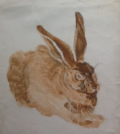 After Durer's Hare-unfinished