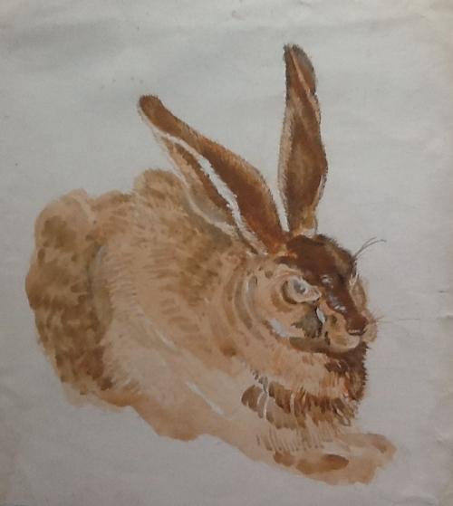 After Durer's Hare-unfinished