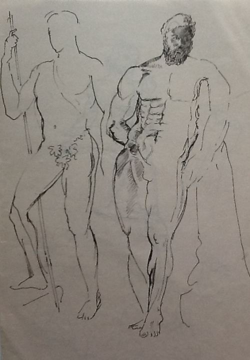 From my sketchbook-pen drawings