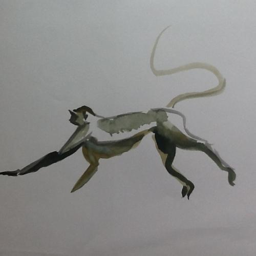 From my sketchbook- monkey