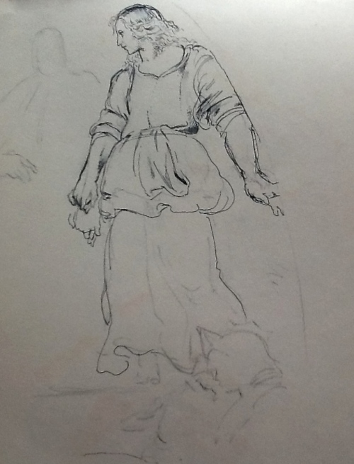 From my sketchbook-Raphael figure