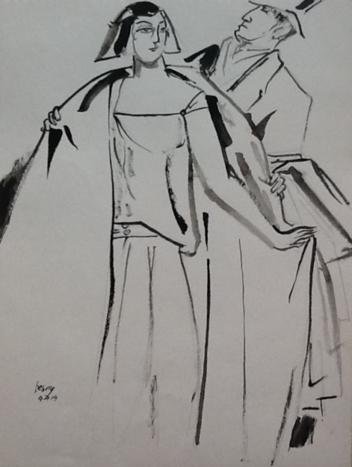 An Illustration from Vogue- brush&ink