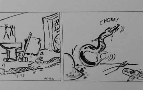 Aesop Fables Updated :swallowing more than one can chew